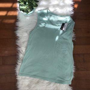 J. Crew | Teal/Mint Green Garment Dyed Tank sz S